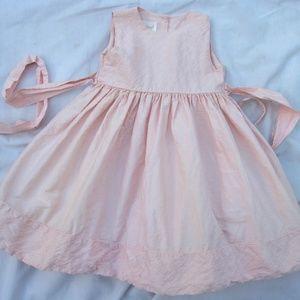 STRASBURG Hand-Smocked Silk Holiday Boutique Dress